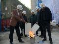 邯郸丛台区中华街道开展外墙保温材料试验比赛